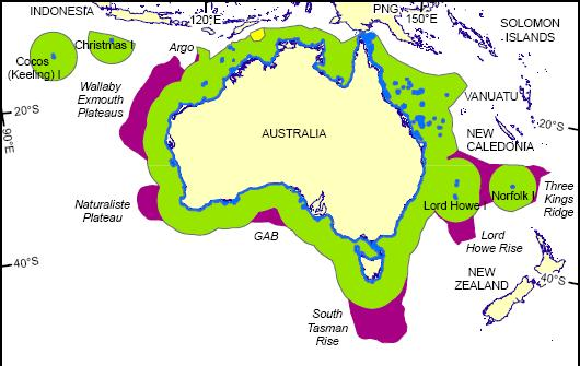 Continental Shelf Western Australia Map Popular Shelf - Australia continental map