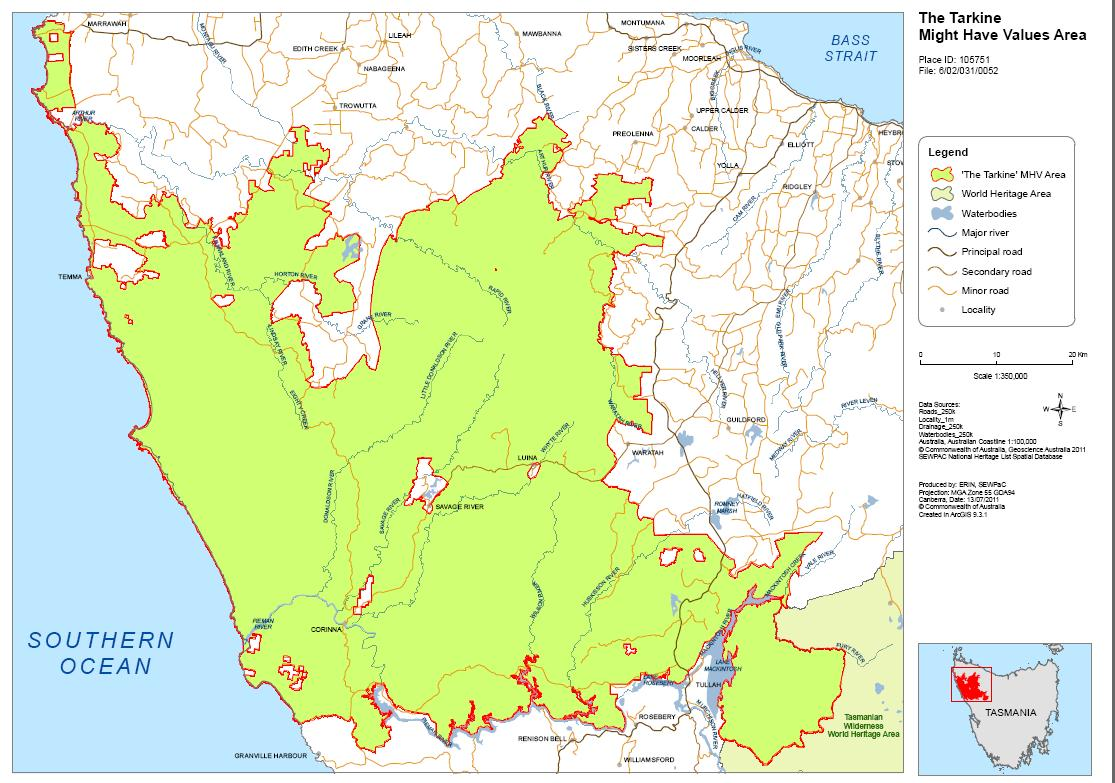 The habitat advocate industrial mining tarkine world heritage values map gumiabroncs Image collections