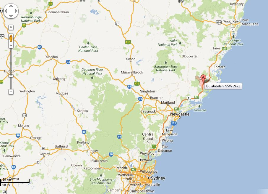 Bulahdelah Location Map