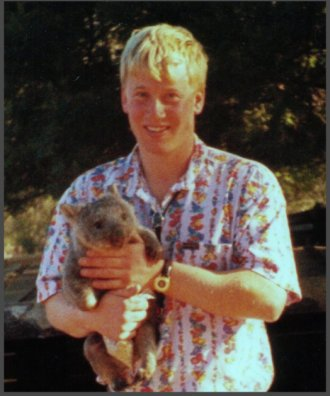 Martin Bryant with wombat