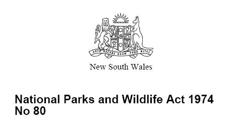 National Parks and Wildlife Act (NSW) 1974