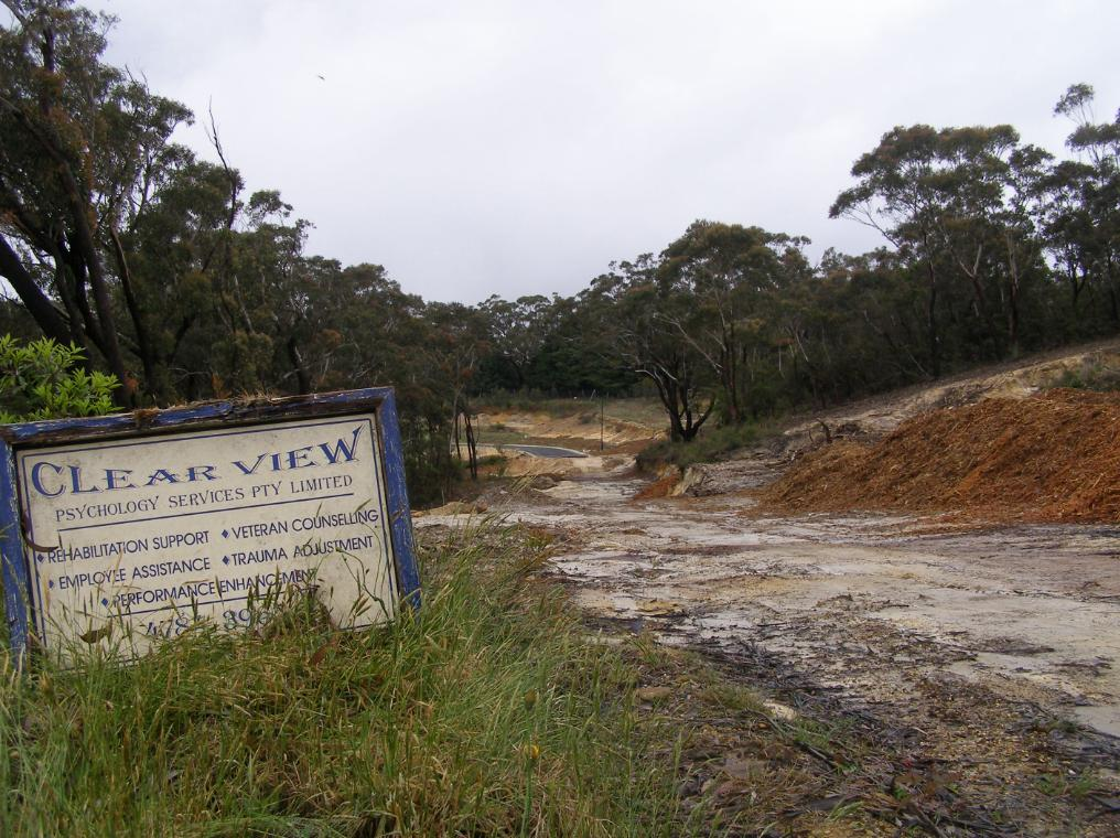 Escarpment destruction for Katoomba Golf Club