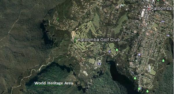 Katoomba Golf Club upstream of World Heritage