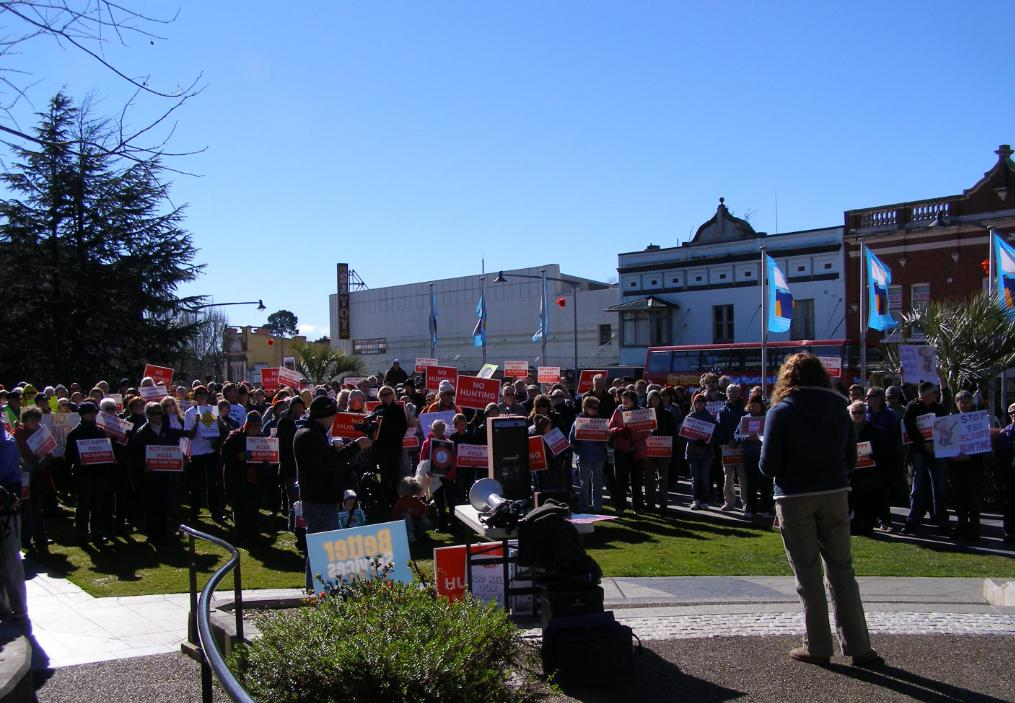No Hunting Rally at Katoomba