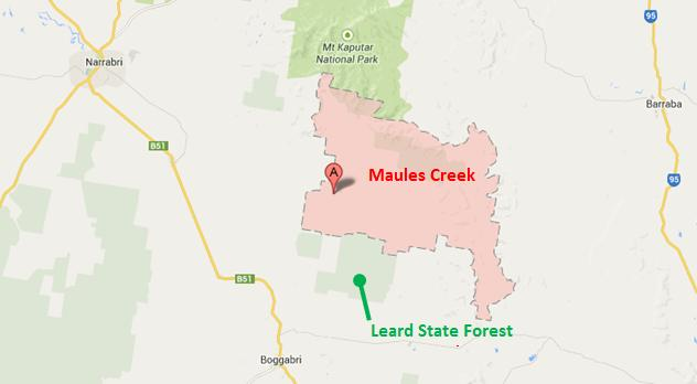 Leard State Forest location map