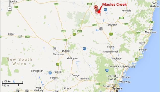Maules Creek location map