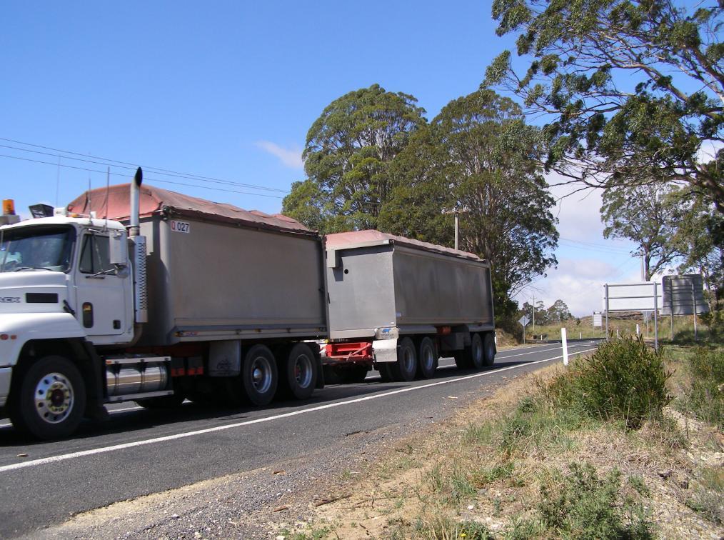 B-Double Sand Truck on Duckmaloi Road