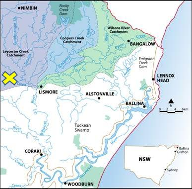 Rous Water Catchment Areas