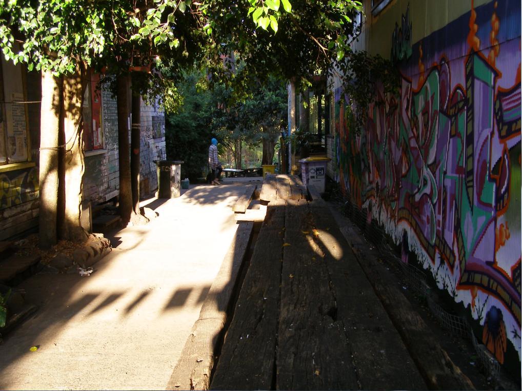 Early in the Nimbin Laneway