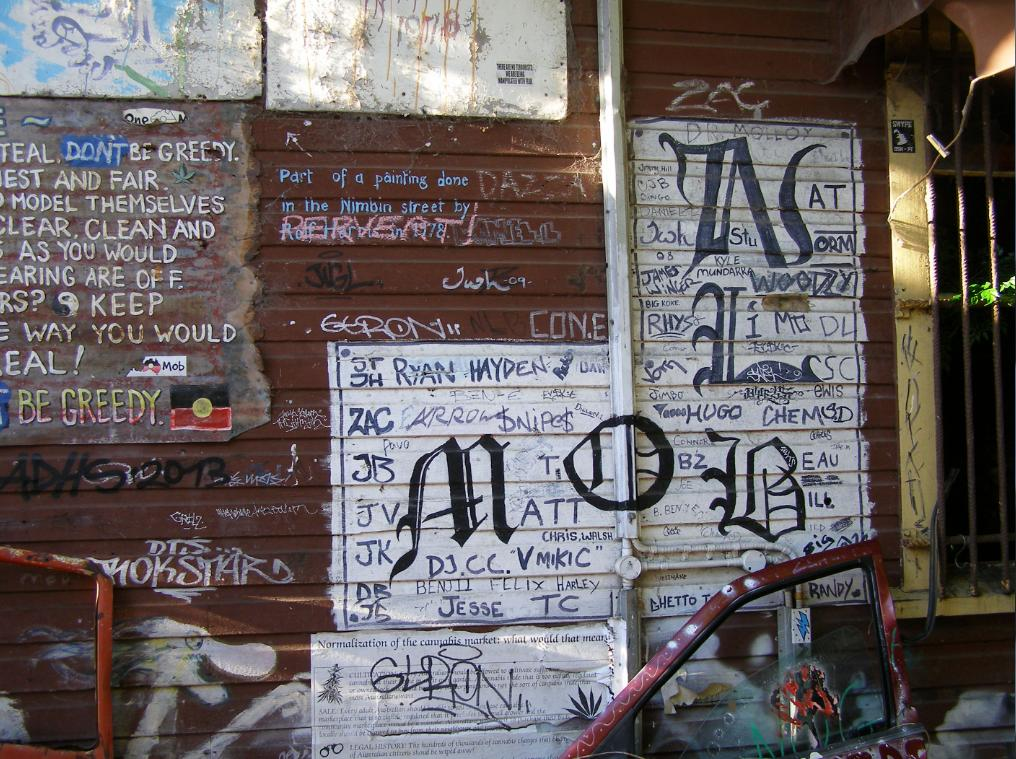 High Side Wall of Nimbin Museum